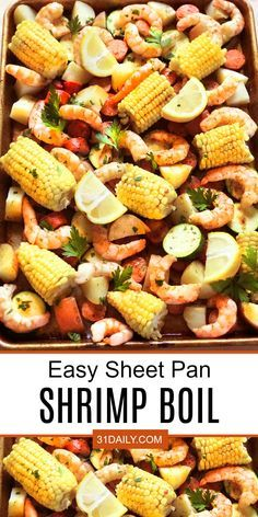 An Easy and Classic Sheet Pan Shrimp Boil