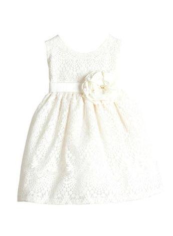 53cd95cb349 Παιδικό Φόρεμα σε Λευκό για Παρανυφάκι, Πάρτυ, Βάπτιση