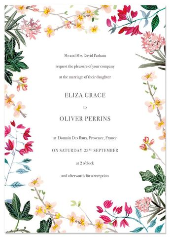 Bougainvillea wedding invitations #bougainvillea #wedding