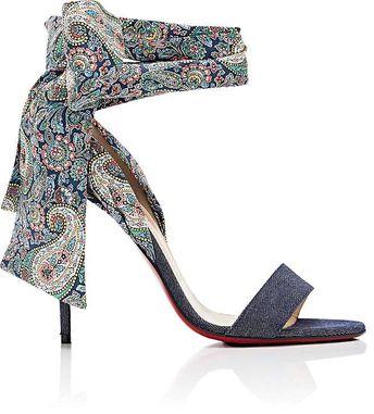 3c3d0dd9e45 Christian Louboutin Women s Sandale Du Desert Denim Sandals - Louboutin  Heels Heeled Sandals