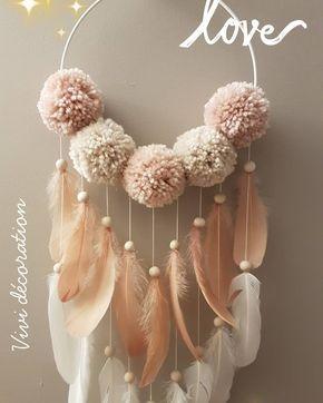 """5 mentions J'aime, 1 commentaires - Fb: vivi decoration (@facebook_vivi_decoration) sur Instagram: """"#dreamcatcher#pompons#plumes"""""""