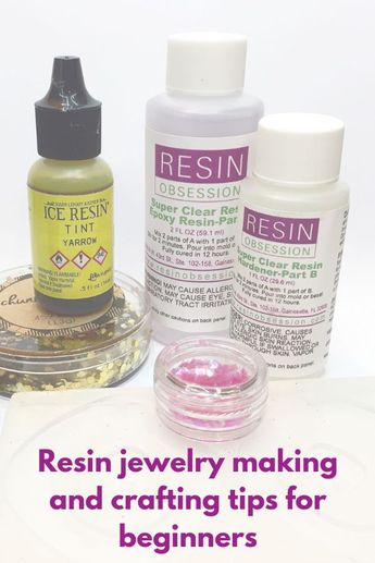 Beginner questions about resin jewelry making