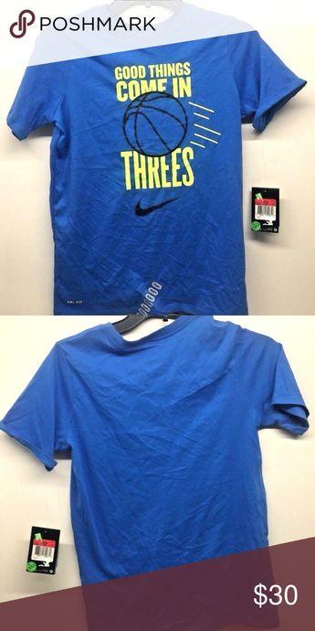 640c51b8 Nike Boy's Good Things Come In Threes Shirt Sz L NEW!! Nike Boy's Good