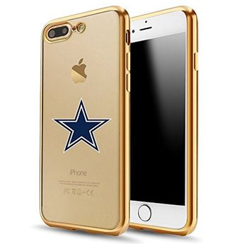 9d3ca8cc99 Dallas Cowboys iPhone 7 Plus Case,Electroplate Soft TPU Back Cover for iPhone  7 Plus