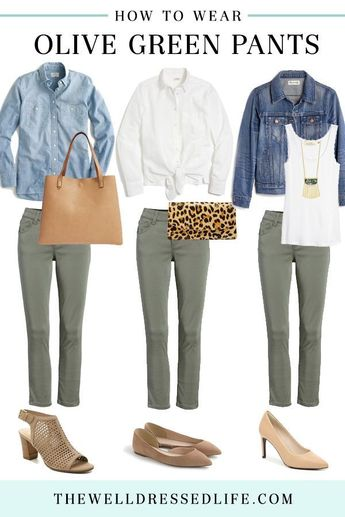 3 Easy Ways to Wear Olive Green Pants