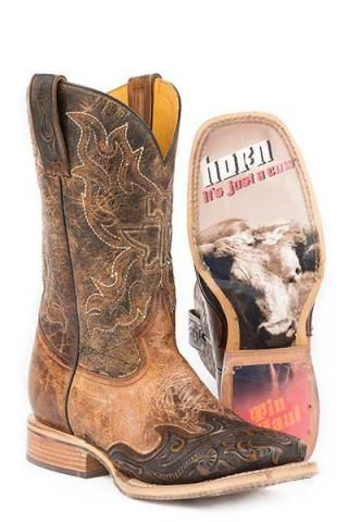 8bbfd56a7fe Men s Cowboy Boots Tin Haul Brown Lawng-hawrn Just A Cow Sole