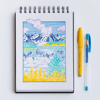 Fernweh - Lil' landscape doodle ✨ - Gel Pens & Liners