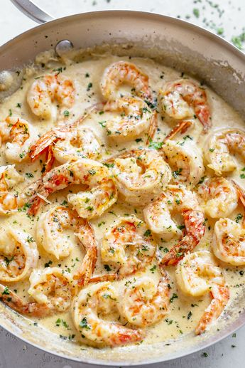 This 10-Minute Creamy Garlic Shrimp Is a Dinner Winner