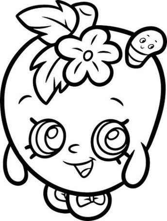Shopkins 7 Fairy Shoes Coloring Page