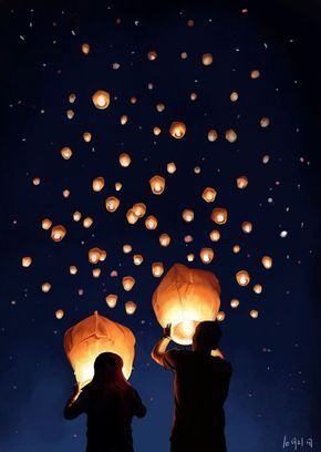 Great alternative to fireworks! ~play safe, lovies.. Be sure to check if you need a permit to release your sky lanterns, and don't release them where there's a potential fire hazard. #fromCanadawithlove