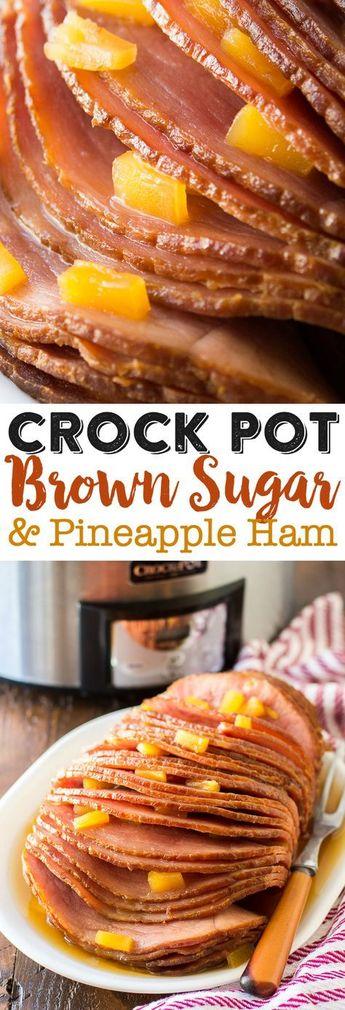 Crock Pot Brown Sugar Pineapple Ham Recipe - Slow Cooker Ham