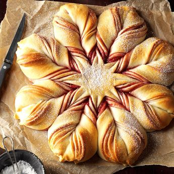 Christmas Star Twisted Bread
