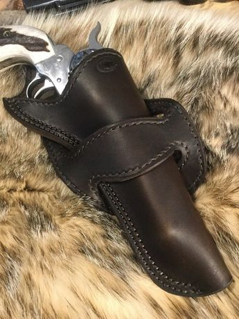 Leather 1800's style holster, Wyoming Made, 5 1/2