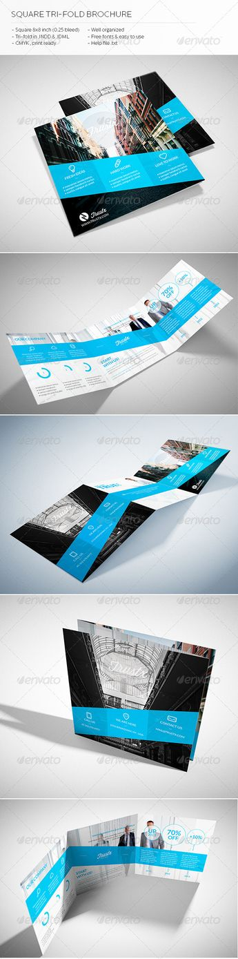 This is SQUARE BI-FOLD Brochure   This template download co