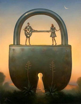 """""""Key Of Love"""" by Vladimir Kush"""