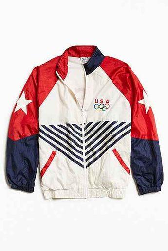 Nike Colorblock Red White Blue USA Windbreaker OG Jacket. #