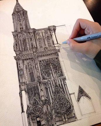 Les dessins darchitectures détaillés de Emi Nakajima  Dessein de dessin