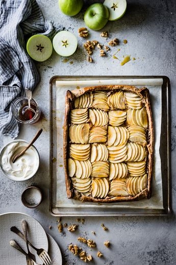 Buckwheat Apple Galette with Maple Walnut Frangipane {gluten-free, refined sugar-free}
