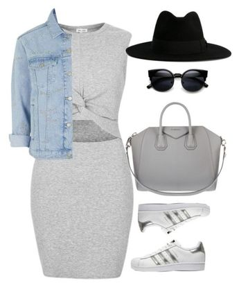 """""""Untitled #340"""" by sahana-raghu ❤ liked on Polyvore featuring River Island, adidas Originals, Givenchy, Topshop and Yves Saint Laurent by nanette"""