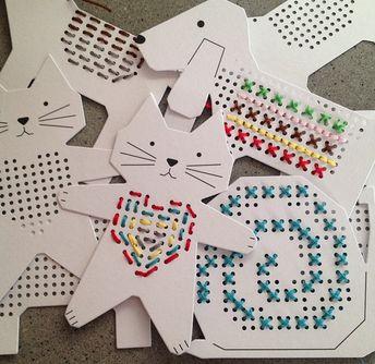 Diy easy stitch cards for children – Artofit