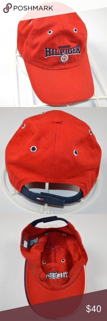 9bc40e7568220 Vintage 90s Tommy Hilfiger Cotton Dad Hat Cap Red Vintage 90s Tommy  Hilfiger Spell Out Cotton