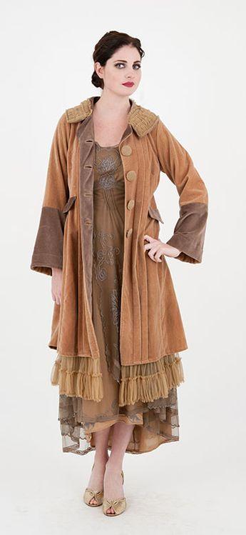 Nataya 40163 Downton Abbey Tea Party Gown Antique Silver, $218 #wardrobeshop
