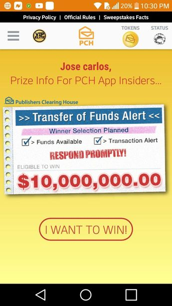 I jcg claim pch vip elite golden star rewards  $100,000 00