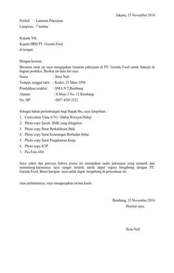Contoh Surat Lamaran Kerja Pt Astra Daihatsu Motor Contoh Seputar Surat