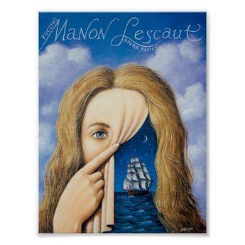 Manon Lescaut II Rafal Olbinski Poster - #customize create your own personalize diy