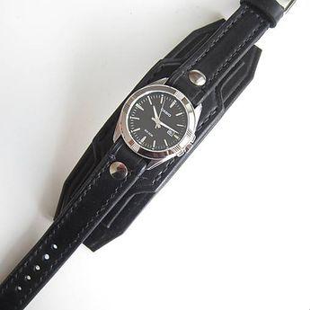 5ba4b976d Pánské+hodinky,+kožený+hodinky,+military+hodinky+Náramok+je