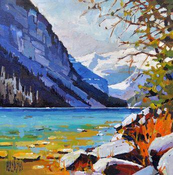 A Little Lake Louise 8x8