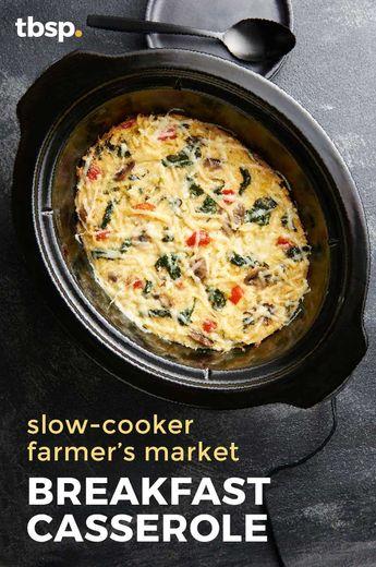 Slow-Cooker Farmer's Market Breakfast Casserole