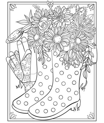 Free April and May Coloring Pages for Spring