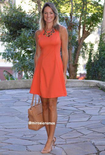 Look de trabalho - look do dia - look corporativo - moda no trabalho - work outfit - office outfit -  spring outfit - look executiva - look de verão  - summer outfit - vestido laranja - animal print - lady like - sandália caramelo