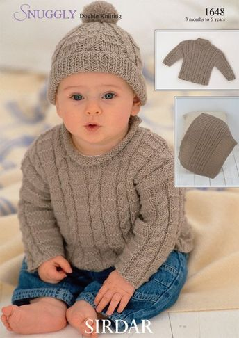 330be73dc847 Free Knitting Pattern for Easy Wee Stripes Baby Sweater and