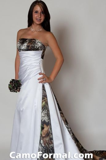 Camo Wedding Dress! Thanks @Chelsea Lloyd for showing me this! Omg, it's too perfect. If any friend steals this, I will disown you. Ahahaha!