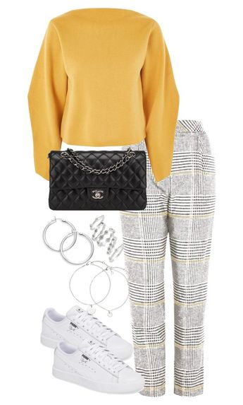 """""""Untitled #4636"""" by theeuropeancloset on Polyvore featuring Topshop, Chanel and Luv Aj"""