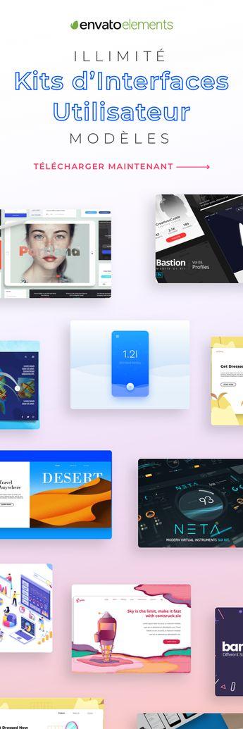 Téléchargement illimité des meilleurs kits d'interface utilisateur!