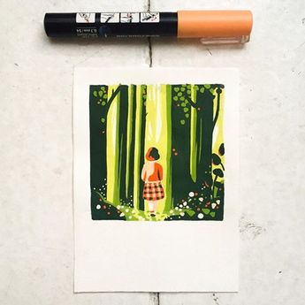 #intothewoods #tinypainting