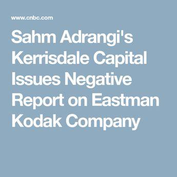 Sahm Adrangi's Kerrisdale Capital Issues Negative Report on Eastman Kodak Company