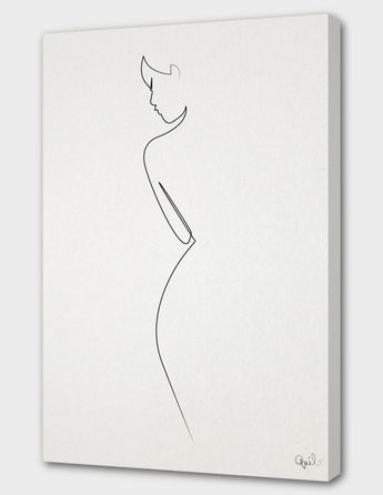 «One Line nude» Canvas Print by quibe