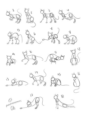 Cats Poses References by Eifi--Copper.deviantart.com on @deviantART