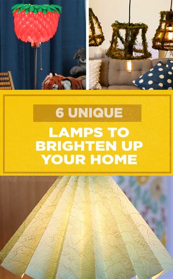 6 Unique Lamps To Brighten Up Your Home #DIY #DIYlamps #decor #lighting