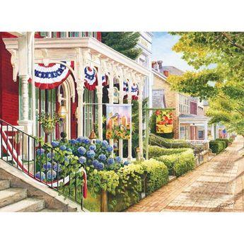 Milton Bradley Premium Blue Board Jigsaw Puzzle - Mary Irwin - Charm of Ephata: 1000 Pcs, Multicolor