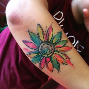7b0028cb8 24 Photos of Cheerful Daisy Tattoos - Sortra