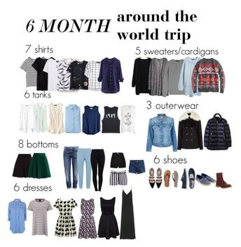6 Months Around the World (Or year-round capsule