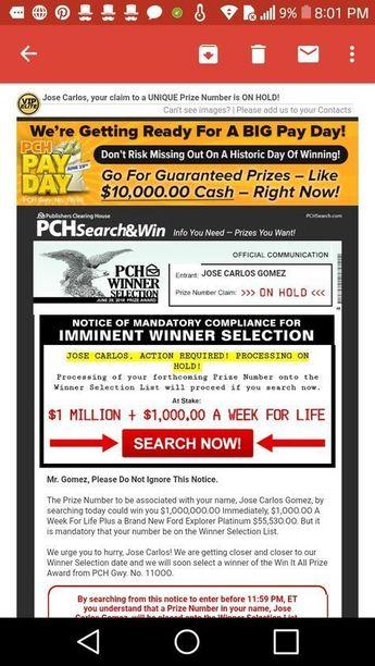 Pch Prizes