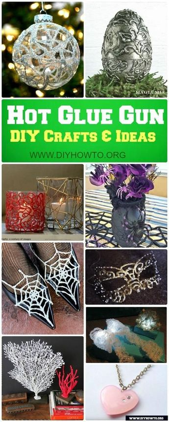 DIY Hot Glue Gun Crafts Ideas [Picture Instructions]