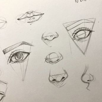 How to draw an eye, nose, lips tutorial preparation - #dibujo #Draw #eye #lips #nose #preparation #Tutorial