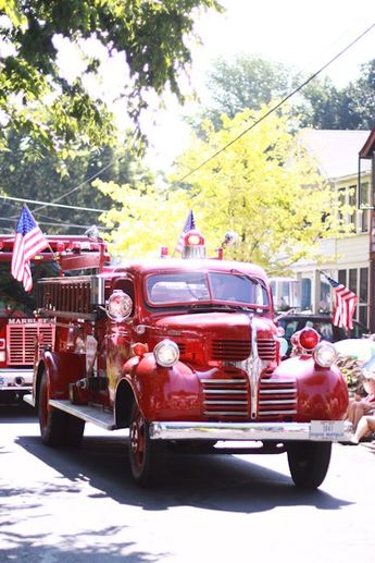 Patriotic parade.  Brings back memories of all the Red River July 4 parades that the grandchildren have been in. FAMILY FUN!